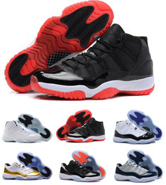 shoe box sales Australia - Designer Cheap 11s 11 Bred Concord 45 Gamma Blue Space Jam Gym Red Georgetown 11 New Basketball Shoes Sneakers For Sale With Box