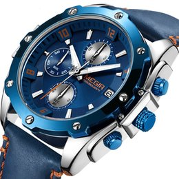 $enCountryForm.capitalKeyWord Australia - Factory Make Luxury Watch Blue Face Stable Automatic Movement No Chronograph Blue Leather strap Original Clasp Best Quality Men's