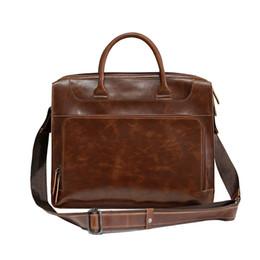 9fa394f9d87b 2019 Vintage мужская корова натуральная кожа портфель мода Crazy Horse кожа  мужской Messenger сумки для ноутбуков мужчины бизнес дорожная сумка