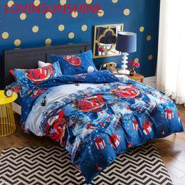 $enCountryForm.capitalKeyWord NZ - 3PCS 3D Printed Cartoon Merry Christmas Santa Claus Comfort Bedding Sets Luxury Bedding Set Twin Queen King Bed Set