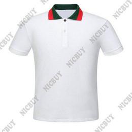 White tshirt polo online shopping - summer designer men brand clothing polo red striped neck classic style letter t shirt casual women tshirt turn down collar tee shirt