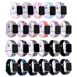 watches bracelets Canada - Print Colorful Sport Watchband for Apple Watch Series 4 3 2 1 Watch Strap 44mm 40mm 38mm 42mm Watch Bracelet