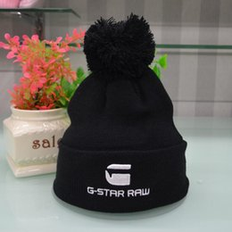 China NEW Hight quality G-STAR RAW Beanies men women autumn winter beanies knitted letter embroidery casual ladies pom-pom gorro cheap ladies winter beanies suppliers