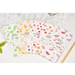Pack Small Envelopes Australia - 5Pcs pack Lovely Small Fresh Fruit Paper Envelope Kawaii Small Baby Gift Craft Envelopes for Wedding Letter Invitations