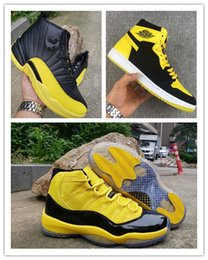 11 12 boys shoes online shopping - New Retro Big Kids shoe Mens Basketball Shoes Bumblebee Yellow Black Trainers Sports Sneakers s s baskets Jumpman des chaussures