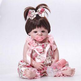 $enCountryForm.capitalKeyWord Australia - Real 57CM Full Body silicone Girl Reborn Babies Doll Bath Toy Lifelike Newborn Princess Baby Doll Bonecas Bebes Reborn