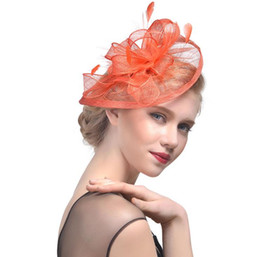 $enCountryForm.capitalKeyWord Australia - European and American hemp yarn headdress bride hair decoration banquet photo hat feather headdress