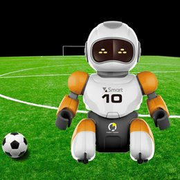 remote control dance Canada - RC robot Kawaii Cartoon Smart Play Soccer Robot Remote Control Toys Electric Singing Dancing Football Robot For Children Kid Toy