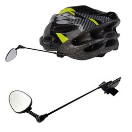 Ingrosso Nuovo casco da bicicletta specchio retrovisore Bike retrovisore Specchi Accessori in bicicletta per il trasporto libero della bicicletta del motociclo DHL