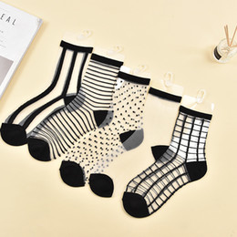 Hot cool sexy women online shopping - Hot Sale Sexy Lace Mesh Fishnet Socks Mixed Fiber Transparent Stretch Elasticity Ankle Net Yarn Thin Women Cool Socks lace Socks