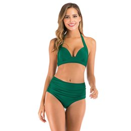 sexy transparent bathing suits Australia - 2020 Women Sexy Bikini Set Solid Color Swimsuits Swimwear Transparent Strap Beach Bralette Swimsuit Bathing Suit Solid Swimwear#823