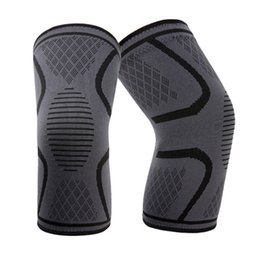 $enCountryForm.capitalKeyWord UK - 7096 Anti-slip Silica Gel Patterned Weaved Knee Protector Unisex Sports Care Pads Breathable Pads Sports Necessary