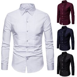 Long Collared Shirts Men Australia - 2019 Men`s Formal Shirts Turn-Down Collar Long Sleeve Single Breasted Slim Fit Fashion Chic Shirts Top For Men Plus Size 3XL