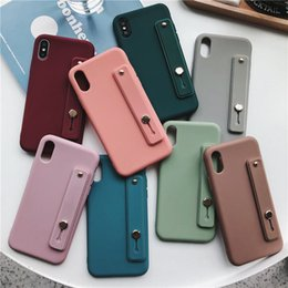 silicone cases for cell phones 2019 - Phone Holder Cell Phone Cases For iphone HUAWEI VIVO OPPO Silicone With Phone Strap Phones Protector Kickstand discount