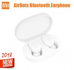Nova Chegada Xiaomi AirDots Bluetooth 5.0 Fones De Ouvido TWS mais novo fone de ouvido fones de ouvido Handsfree mi Fones De Ouvido Inteligente AI Controle para redmi venda por atacado