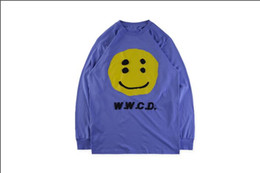 t shirt asap Australia - NEW ASAP Rocky Same Paragraph W.W.C.D. Smile Face Stereo Printed Sleeve T-shirt Smile Face Printed Long Sleeve T-shirt Men and Women