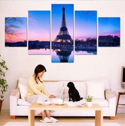 $enCountryForm.capitalKeyWord Australia - Paris Eiffel Tower,5 Pieces Home Decor HD Printed Modern Art Painting on Canvas (Unframed Framed)