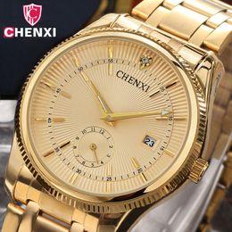 $enCountryForm.capitalKeyWord Australia - Chenxi Gold Watch Men Luxury Business Man Watch Golden Waterproof Unique Fashion Casual Quartz Male Dress Clock Gift 069ipg MX190713