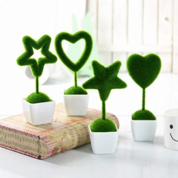 Decoration livingroom online shopping - 2019 New Artificial Plants Green Fake Flower Tress Small Pot Livingroom Hotel Lobby Party Decorations Ornament