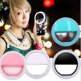 $enCountryForm.capitalKeyWord Australia - Clip-on LED selfie ring lamp round circle self timer spotlight led flash selfie lights for iphone 7 6 plus samsung s7 s8 camera pc ipad