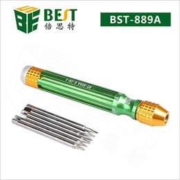 $enCountryForm.capitalKeyWord Australia - BST-889A 6 in1 Screwdriver set Slotted Precision Magnetic Opening for iPhone Macbook Smartphone Repairing mini tool Screwdriver