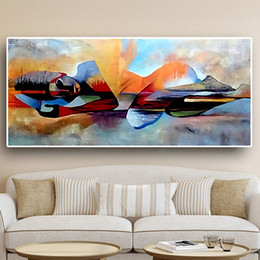 buddha art living room Canada - Lord Buddha Abstract Oil Painting on Canvas Religious Cuadros Wall Art Pictures Home Decor For Living Room