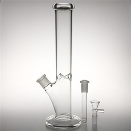 14mm female bowl for bongs NZ - New 12 Inch Glass Water Bongs with 18mm male to 14mm female Downstem 14mm male Bowl Thick Heady Glass Beaker Bong for Smoking