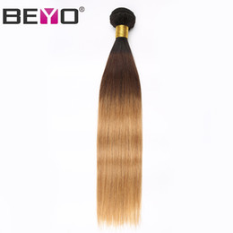 $enCountryForm.capitalKeyWord Australia - Ombre Bundles Brazilian Straight Hair Weave Bundles Human Hair 3 Bundle Deals 1B 4 27 Color 12-24 Inch Peruvian Hair Remy Beyo