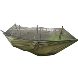$enCountryForm.capitalKeyWord UK - Tactical Portable Hammock Single-person Folded Into The Pouch Mosquito Net Hammock Hanging Bed For Travel Kits Camping Hiking