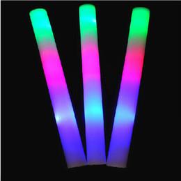 Manufacturers sponges online shopping - Manufacturers sponge concert products luminous colorful fluorescent promotion silver foam flash stick