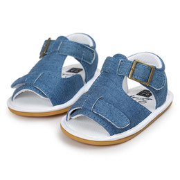 Sandals For Kids Canada - Summer Baby Shoes For Boys Toddler Infant Kids Baby Boys Solid Canvas Sole Crib Shoes Baby Boys Anti-slip Sandals Shoes M8Y11