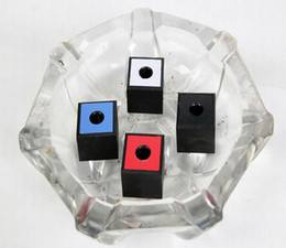 abs pipe 2019 - Newest Colorful Plastic Square Ashtray Storage Box Holder Office smoke block For Cigarette Bong Glass Smoking Pipe