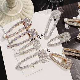 Comb Clips metal online shopping - New arrvial Vintage Faux Pearl Wrapped Hairpins Girl Glitter Accessory Gold Silver Metal Alloy Hair Clip Water Drop Barrettes