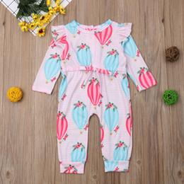a6ff73ec244 good quality Newborn Baby rompers Boys Girls Balloon Striped Print Romper  Jumpsuit Outfits Set roupa de menina children s clothing