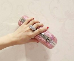 Gold Pink Rings For Women Australia - 2019 Rings Diamonds Women Evening Bags Purse sequins Clutches Handbags Evening Bags For Wedding Crystal Luxurious Wallets