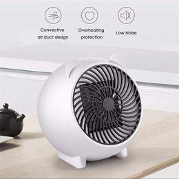 Electric Hot Warmer Australia - Mini 250W Electric Heater Portable Winter Warmer Hot Fan Personal Heater for Home Office Ceramic Small Heaters EU US Plug