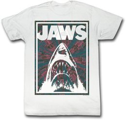 men red t shirt NZ - Jaws Red Black & White Framed Jaws Adult T Shirt Classic Movie Men Women Unisex Fashion tshirt Free Shipping