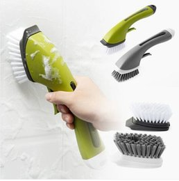 Wholesale Hot sales Kitchen Cleaning Liquid Long Handle Cleaning Brush Tile Sink Gap Cleaning Brush