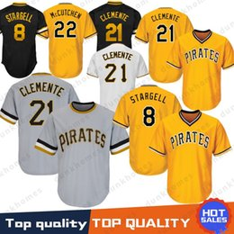 8448858bf65 Pittsburgh 21 Roberto Clemente Pirates Baseball Jersey 22 Andrew 29  Francisco Cervelli 27 Kent Tekulve 6 Marte 8 Stargell Majestic Top