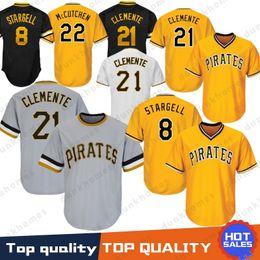 8448858bf65 Pittsburgh 21 Roberto Clemente Pirates Baseball Jersey 22 Andrew 29  Francisco Cervelli 27 Kent Tekulve 6 Marte 8 Stargell Majestic Top