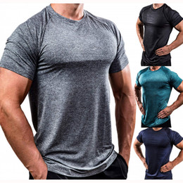 $enCountryForm.capitalKeyWord Australia - 2019 New Custom Quick Dry T-shirt for Men Males Sports Style Fitness Clothes with 8 Colors Breathable High-elastic Tight T-shirt for Running