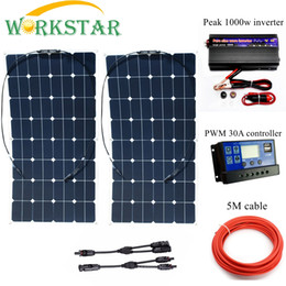 $enCountryForm.capitalKeyWord Australia - Cells ORKSTAR 2*100W Sunpower Flexible Solar Panels with 30A Controller and 1000W Inverter 200W System Kit for Beginner
