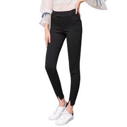 $enCountryForm.capitalKeyWord Australia - 2019 Spring New Women's Wear Elastic Pencil Pants New Casual Slim Fit Skinny Split Leggings for Women Plus Size