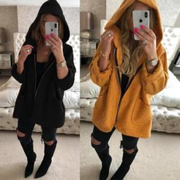 $enCountryForm.capitalKeyWord Canada - Autumn Winter Women Coats Warm Loose Hooded Fleece Jacket Coats Zipper Outwear Thick Pockets Femme Sweaters Hoodie