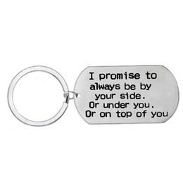 $enCountryForm.capitalKeyWord UK - 12 Pc Lot I Promise To Always Be By Your Side Stainless Steel Key Chain Key Ring Lovers Girlfriend Boyfriend Lovers Friend Gift