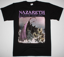 Hair Color Purple Red Black NZ - NAZARETH HAIR OF THE DOG HARD ROCK DEEP PURPLE URIAH HEEP NEW BLACK T-SHIRT Men Women Unisex Fashion tshirt Free Shipping