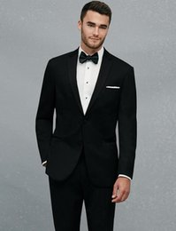 Suit Tie Girdle Australia - New Custom Made Two Buttons Black Groom Tuxedos Notch Lapel Groomsmen Mens Wedding Prom Suits (Jacket+Pants+Girdle+Tie) 633