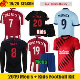 Jersey diego costa online shopping - 19 Atletico Madrid Soccer Jerseys JOAO FELIX SAUL VITOLO camiseta de fútbol HERRERA MORATA DIEGO COSTA Football Shirt