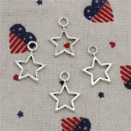 Venta al por mayor de 278pcs encantos estrella pentagrama 16 * 22 mm colgante, colgante de plata tibetana, para DIY collar pulseras joyas accesorios