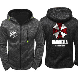 $enCountryForm.capitalKeyWord Australia - Resident Evil Umbrella hoodie Men Sports Wear Men's hoodie Zipper Sweatshirt Male Jacquard Autumn Coat Spring Cardigan hoodie Tracksuit
